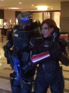 Garrus and Fem-Shep from Mass Effect