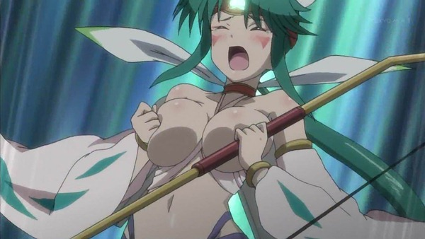 Long time Anime bare breast