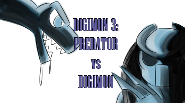 Predator vs Digimon cover
